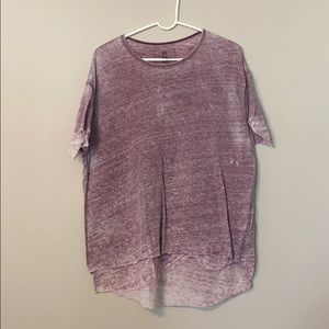 We The Free layered White washed top in purple